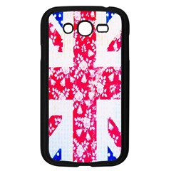 British Flag Abstract British Union Jack Flag In Abstract Design With Flowers Samsung Galaxy Grand Duos I9082 Case (black)