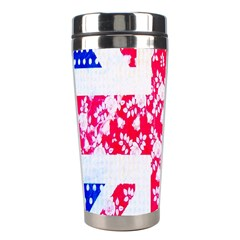 British Flag Abstract British Union Jack Flag In Abstract Design With Flowers Stainless Steel Travel Tumblers
