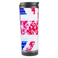 British Flag Abstract British Union Jack Flag In Abstract Design With Flowers Travel Tumbler by Nexatart