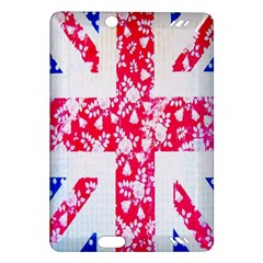 British Flag Abstract British Union Jack Flag In Abstract Design With Flowers Amazon Kindle Fire Hd (2013) Hardshell Case by Nexatart