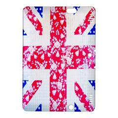British Flag Abstract British Union Jack Flag In Abstract Design With Flowers Kindle Fire Hdx 8 9  Hardshell Case by Nexatart