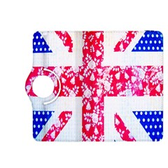 British Flag Abstract British Union Jack Flag In Abstract Design With Flowers Kindle Fire Hdx 8 9  Flip 360 Case by Nexatart
