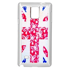 British Flag Abstract British Union Jack Flag In Abstract Design With Flowers Samsung Galaxy Note 4 Case (white)
