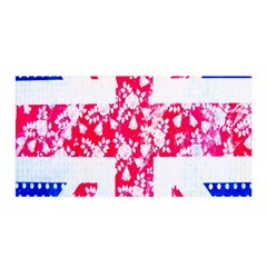 British Flag Abstract British Union Jack Flag In Abstract Design With Flowers Satin Wrap