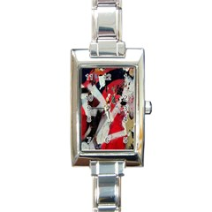 Abstract Graffiti Background Wallpaper Of Close Up Of Peeling Rectangle Italian Charm Watch by Nexatart