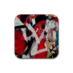 Abstract Graffiti Background Wallpaper Of Close Up Of Peeling Rubber Square Coaster (4 Pack)  by Nexatart