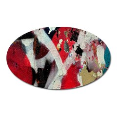 Abstract Graffiti Background Wallpaper Of Close Up Of Peeling Oval Magnet by Nexatart