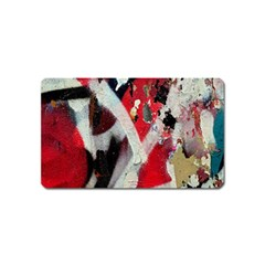 Abstract Graffiti Background Wallpaper Of Close Up Of Peeling Magnet (name Card)