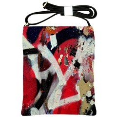 Abstract Graffiti Background Wallpaper Of Close Up Of Peeling Shoulder Sling Bags by Nexatart