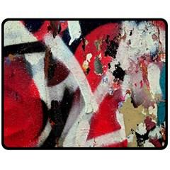 Abstract Graffiti Background Wallpaper Of Close Up Of Peeling Fleece Blanket (medium)  by Nexatart