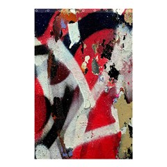 Abstract Graffiti Background Wallpaper Of Close Up Of Peeling Shower Curtain 48  X 72  (small)  by Nexatart