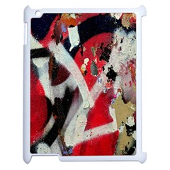 Abstract Graffiti Background Wallpaper Of Close Up Of Peeling Apple Ipad 2 Case (white) by Nexatart