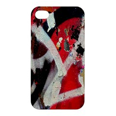 Abstract Graffiti Background Wallpaper Of Close Up Of Peeling Apple Iphone 4/4s Premium Hardshell Case by Nexatart