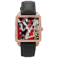 Abstract Graffiti Background Wallpaper Of Close Up Of Peeling Rose Gold Leather Watch  by Nexatart