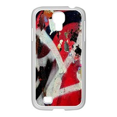 Abstract Graffiti Background Wallpaper Of Close Up Of Peeling Samsung Galaxy S4 I9500/ I9505 Case (white) by Nexatart