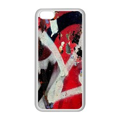 Abstract Graffiti Background Wallpaper Of Close Up Of Peeling Apple Iphone 5c Seamless Case (white)