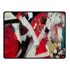 Abstract Graffiti Background Wallpaper Of Close Up Of Peeling Double Sided Fleece Blanket (small)  by Nexatart
