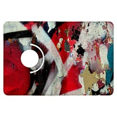Abstract Graffiti Background Wallpaper Of Close Up Of Peeling Kindle Fire HDX Flip 360 Case by Nexatart