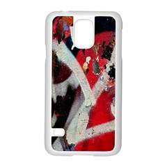 Abstract Graffiti Background Wallpaper Of Close Up Of Peeling Samsung Galaxy S5 Case (white)