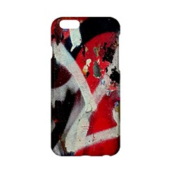 Abstract Graffiti Background Wallpaper Of Close Up Of Peeling Apple Iphone 6/6s Hardshell Case by Nexatart