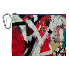 Abstract Graffiti Background Wallpaper Of Close Up Of Peeling Canvas Cosmetic Bag (xxl) by Nexatart