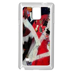 Abstract Graffiti Background Wallpaper Of Close Up Of Peeling Samsung Galaxy Note 4 Case (white)