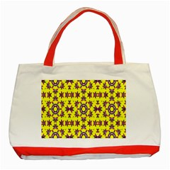 Yellow Seamless Wallpaper Digital Computer Graphic Classic Tote Bag (red)