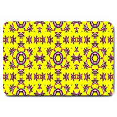 Yellow Seamless Wallpaper Digital Computer Graphic Large Doormat  by Nexatart
