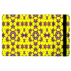 Yellow Seamless Wallpaper Digital Computer Graphic Apple Ipad 3/4 Flip Case by Nexatart
