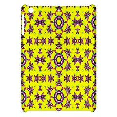 Yellow Seamless Wallpaper Digital Computer Graphic Apple Ipad Mini Hardshell Case by Nexatart