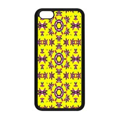 Yellow Seamless Wallpaper Digital Computer Graphic Apple Iphone 5c Seamless Case (black) by Nexatart