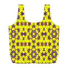 Yellow Seamless Wallpaper Digital Computer Graphic Full Print Recycle Bags (l)  by Nexatart