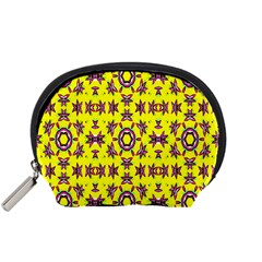 Yellow Seamless Wallpaper Digital Computer Graphic Accessory Pouches (small)  by Nexatart