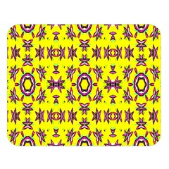 Yellow Seamless Wallpaper Digital Computer Graphic Double Sided Flano Blanket (large)
