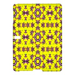 Yellow Seamless Wallpaper Digital Computer Graphic Samsung Galaxy Tab S (10 5 ) Hardshell Case  by Nexatart