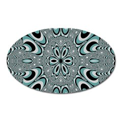 Kaleidoskope Digital Computer Graphic Oval Magnet by Nexatart