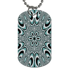 Kaleidoskope Digital Computer Graphic Dog Tag (one Side) by Nexatart