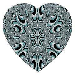 Kaleidoskope Digital Computer Graphic Jigsaw Puzzle (heart)