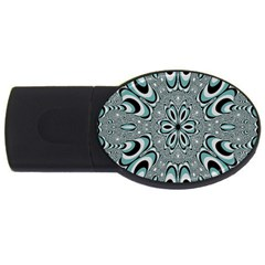 Kaleidoskope Digital Computer Graphic Usb Flash Drive Oval (4 Gb) by Nexatart