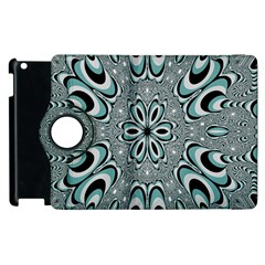 Kaleidoskope Digital Computer Graphic Apple Ipad 2 Flip 360 Case by Nexatart