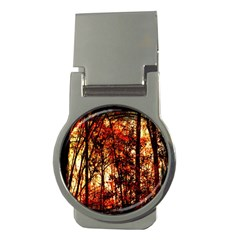 Forest Trees Abstract Money Clips (round)