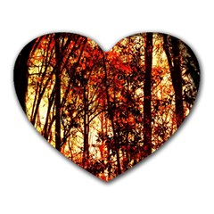 Forest Trees Abstract Heart Mousepads