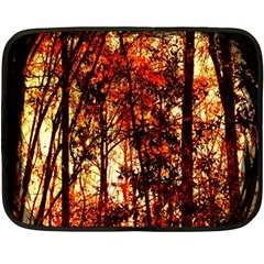 Forest Trees Abstract Fleece Blanket (mini) by Nexatart