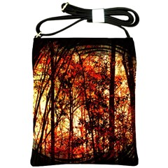Forest Trees Abstract Shoulder Sling Bags by Nexatart