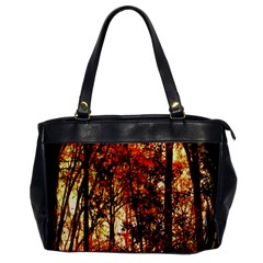 Forest Trees Abstract Office Handbags by Nexatart