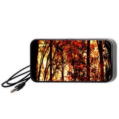 Forest Trees Abstract Portable Speaker (black)