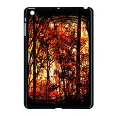Forest Trees Abstract Apple Ipad Mini Case (black) by Nexatart