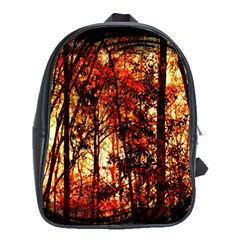 Forest Trees Abstract School Bags (xl)