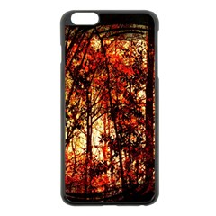 Forest Trees Abstract Apple Iphone 6 Plus/6s Plus Black Enamel Case by Nexatart