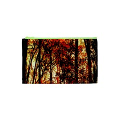 Forest Trees Abstract Cosmetic Bag (xs) by Nexatart